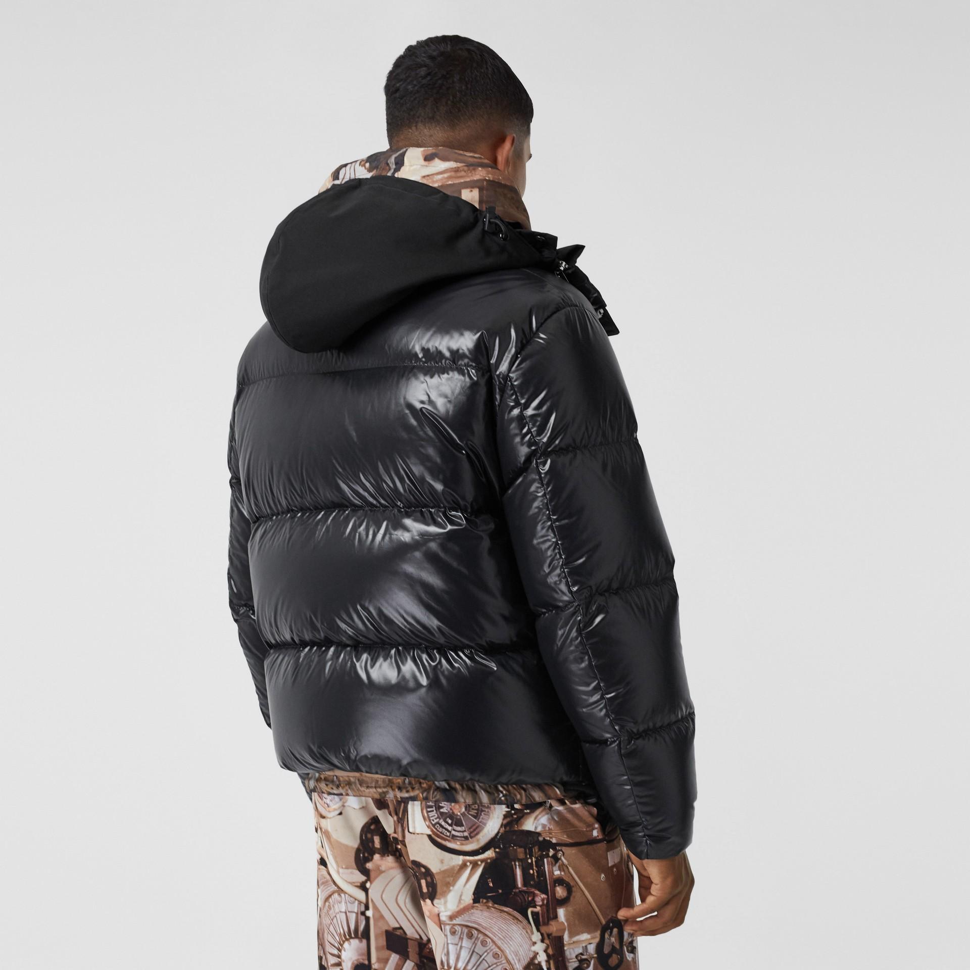 Packaway Hood Puffer Jacket in Black - Men | Burberry - gallery image 2