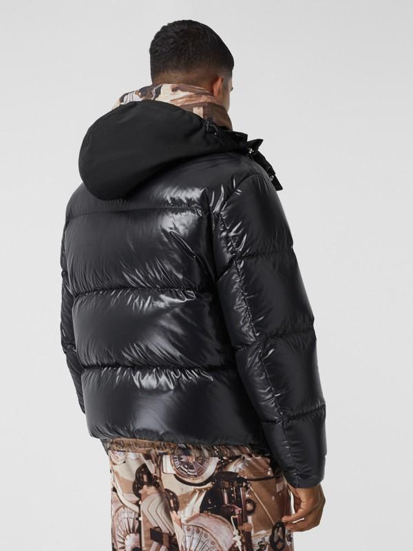 Packaway Hood Puffer Jacket in Black - Men | Burberry - cell image 2