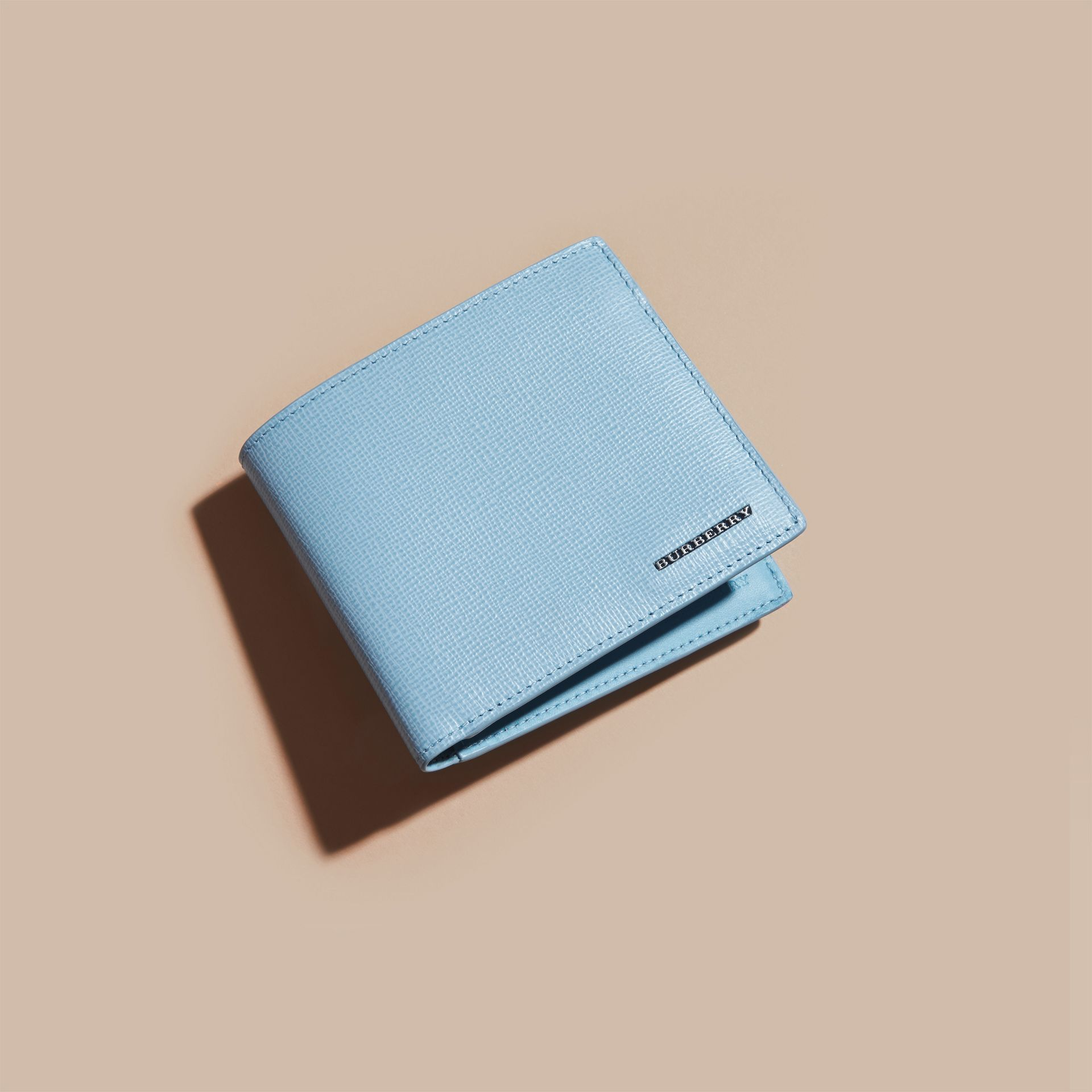 London Leather Folding Wallet Powder Blue - gallery image 3
