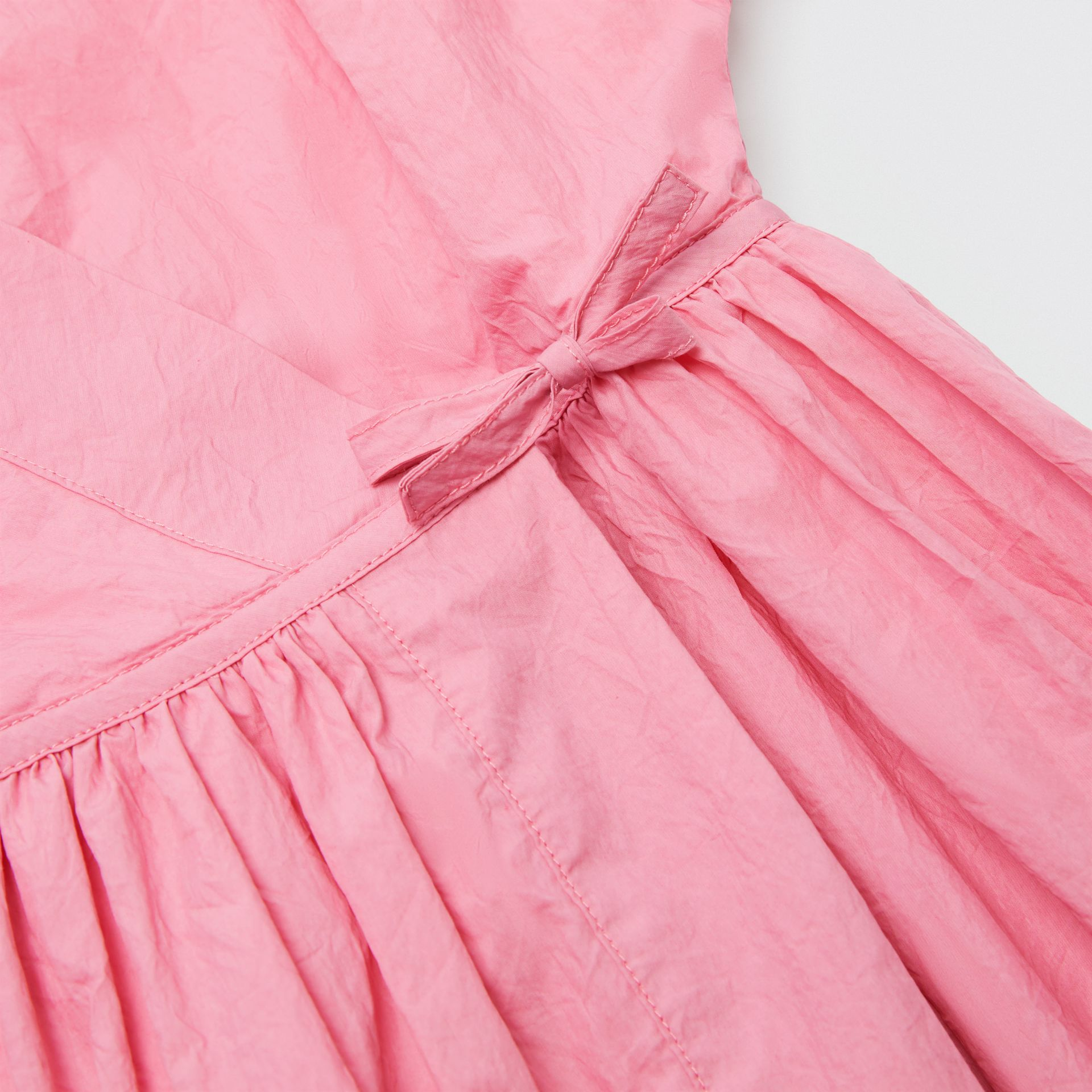 Cotton Blend Wrap Dress in Bright Rose | Burberry Australia - gallery image 1