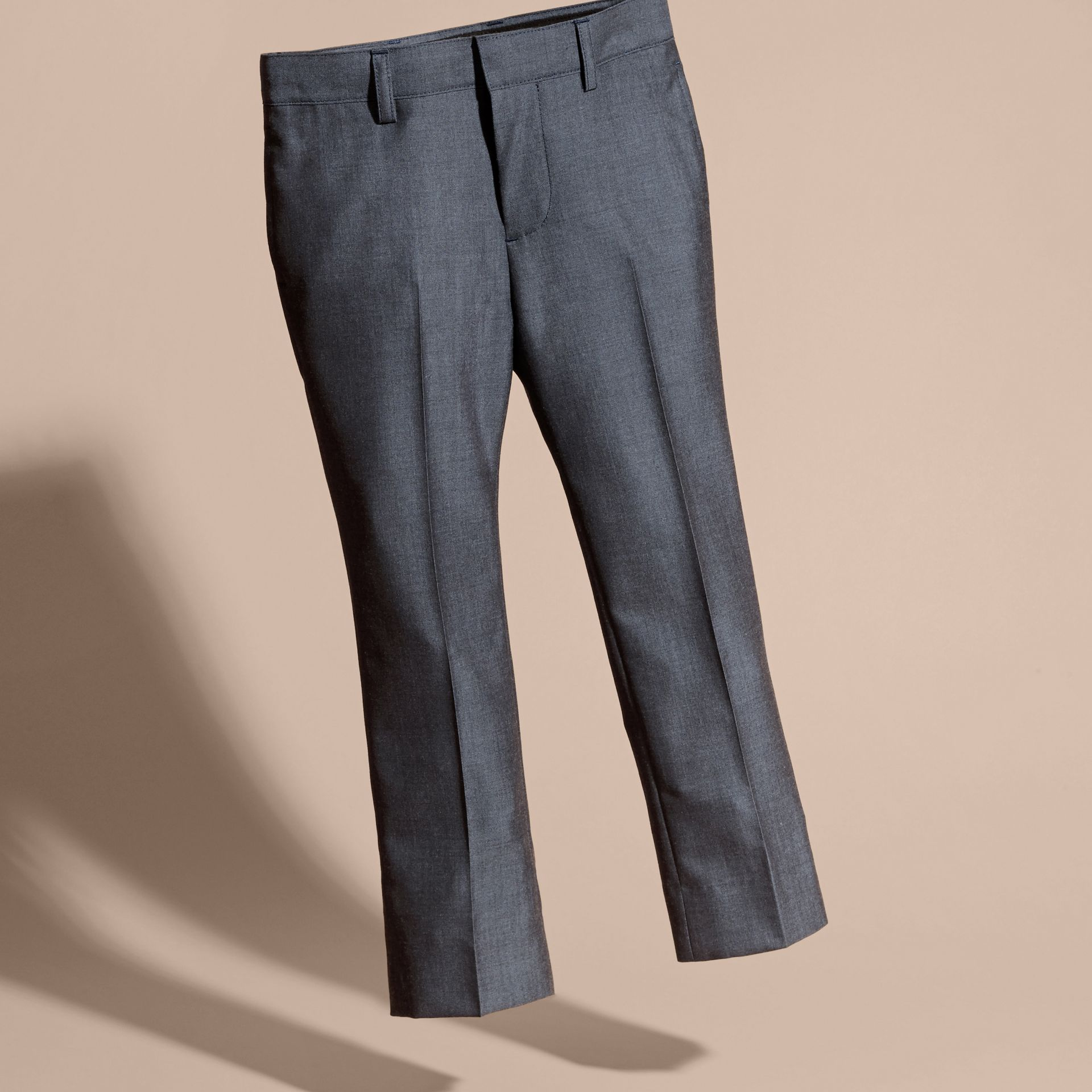 Airforce blue Tailored Wool Trousers Airforce Blue - gallery image 3