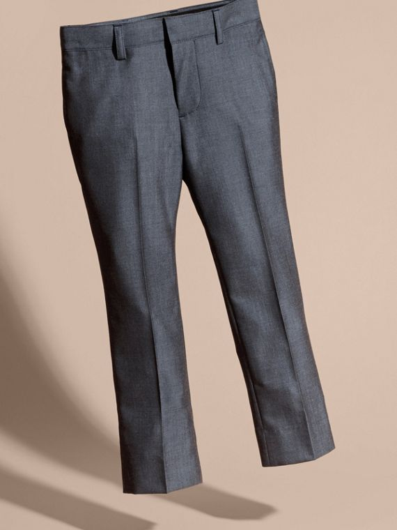 Tailored Wool Trousers Airforce Blue - cell image 2