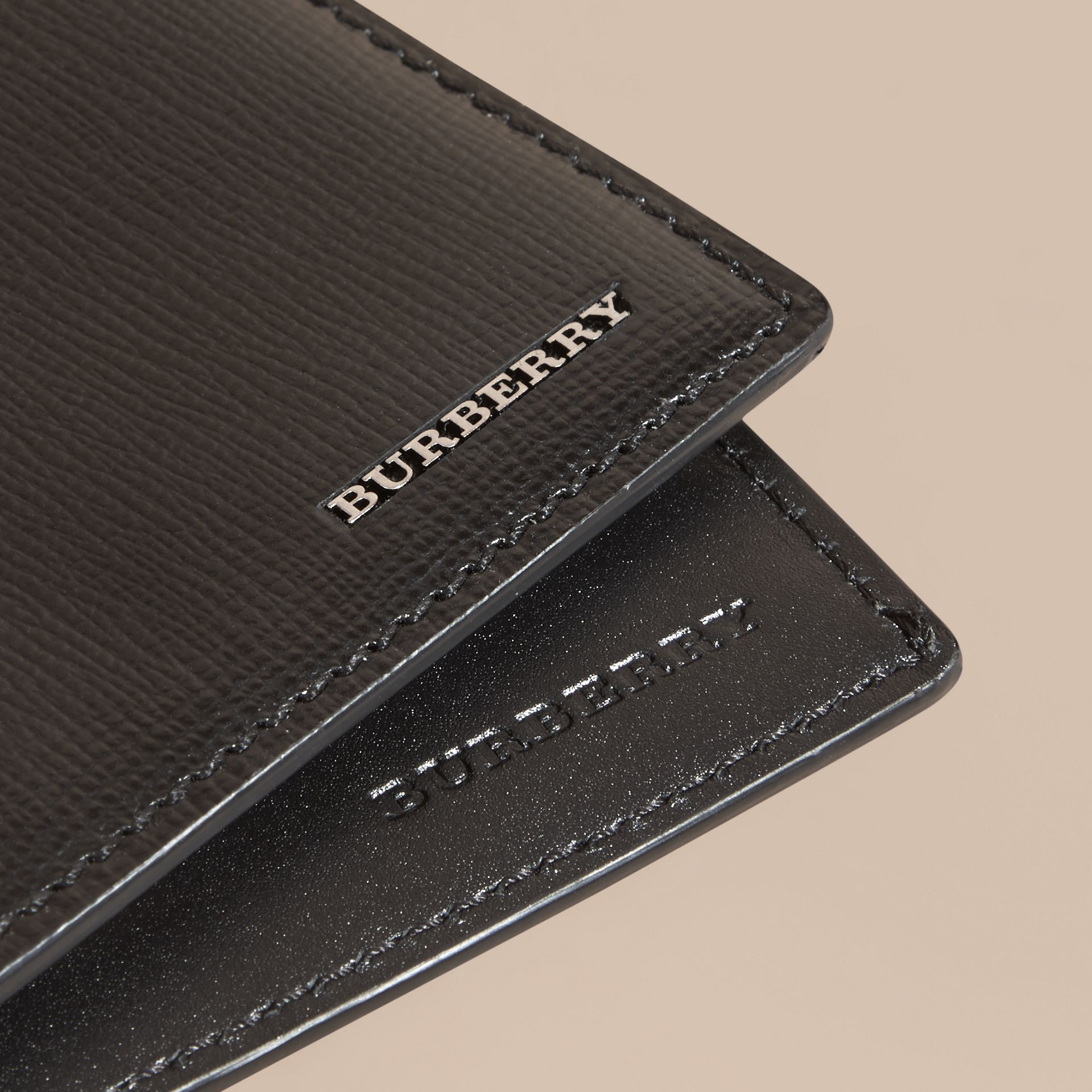 London Leather International Bifold Wallet in Black | Burberry - gallery image 4
