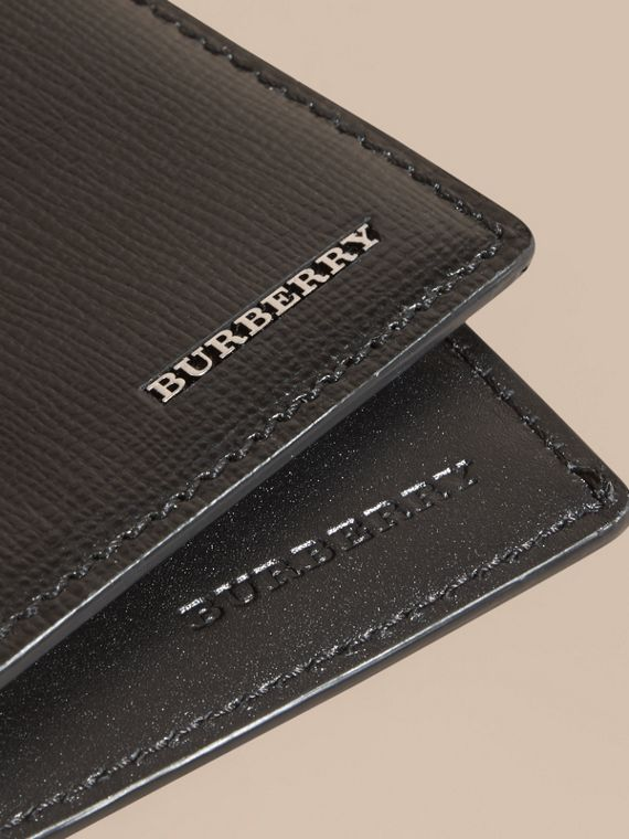 London Leather International Bifold Wallet in Black | Burberry Singapore - cell image 3