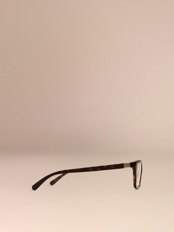 Écaille de tortue Monture œil de chat pour lunettes de vue à motif check Écaille  Tortue - cell image 3