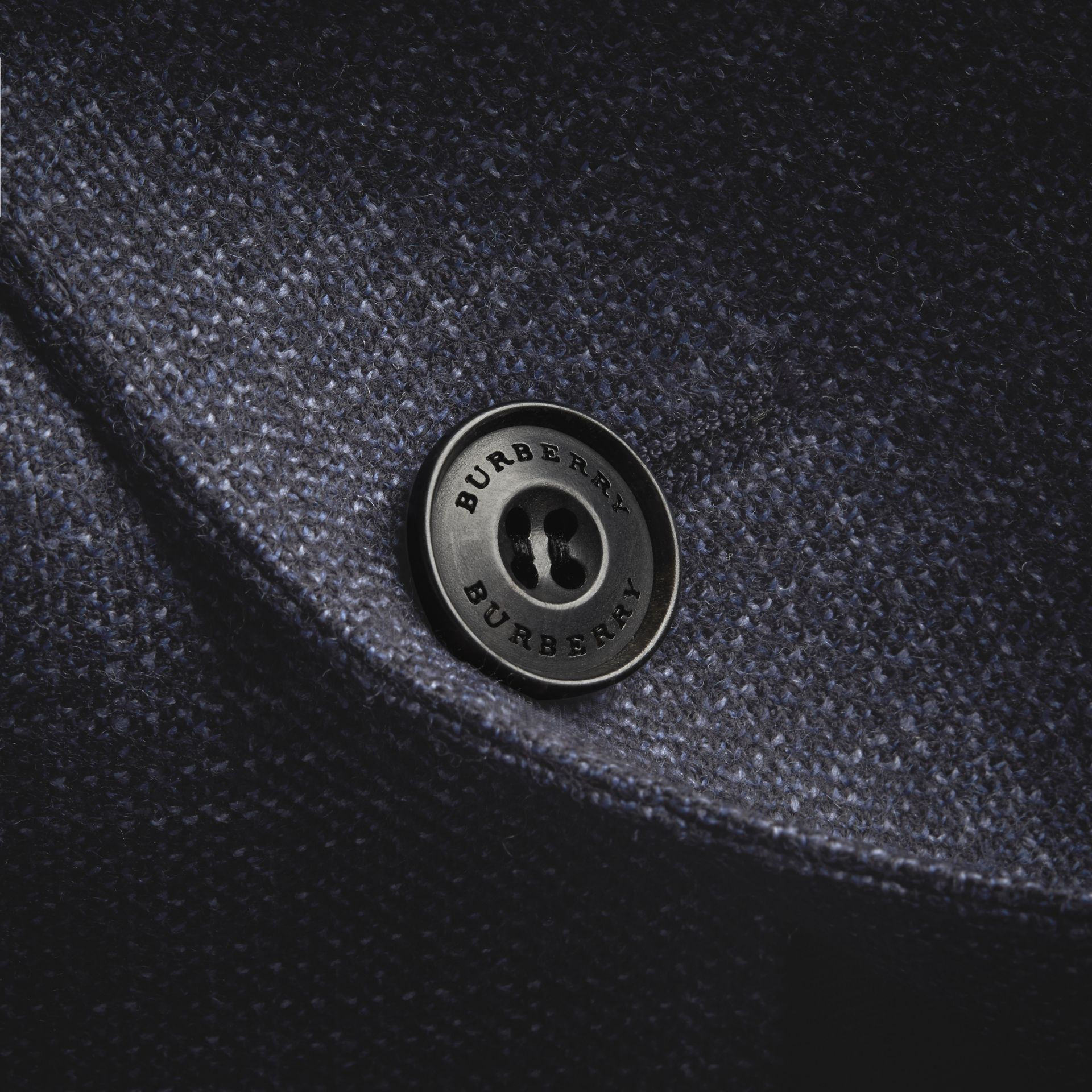 Slim Fit Lightweight Wool Part-canvas Suit in Bright Navy - Men | Burberry - gallery image 2