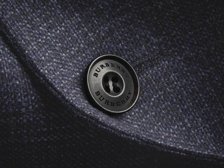 Slim Fit Lightweight Wool Part-canvas Suit in Bright Navy - Men | Burberry - cell image 1
