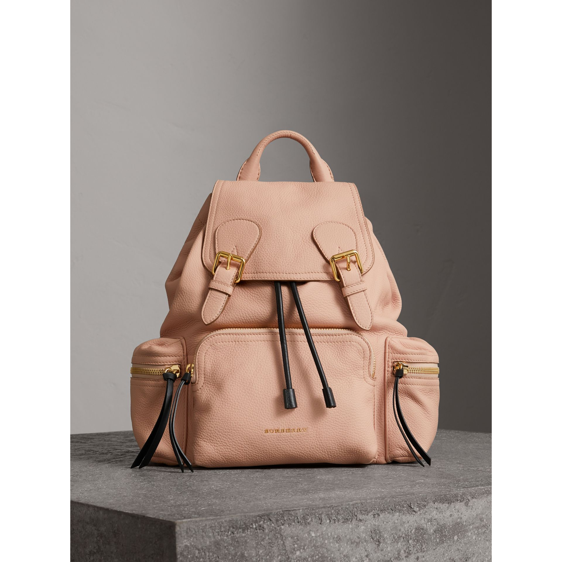 The Medium Rucksack in Deerskin with Resin Chain in Pale Apricot - Women | Burberry - gallery image 6