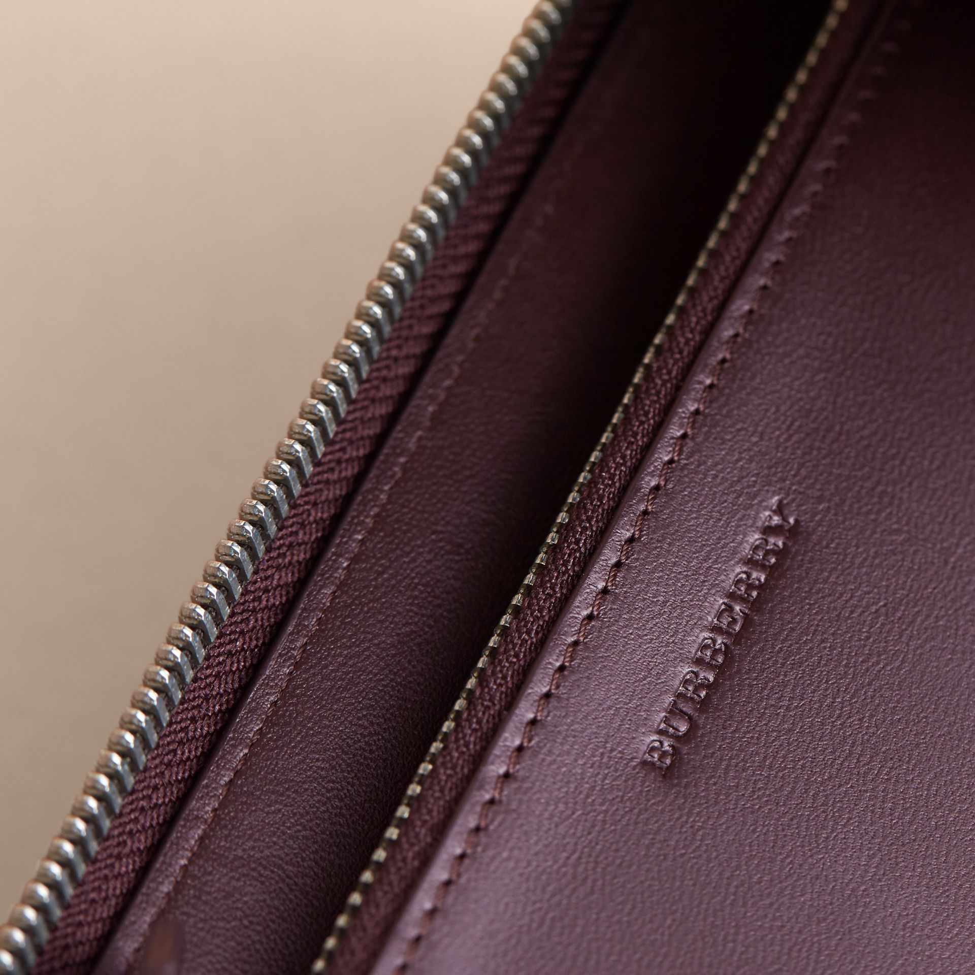 London Check Ziparound Wallet in Deep Claret - Men | Burberry - gallery image 2