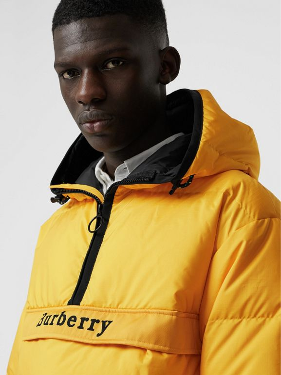 Down-filled Anorak with Detachable Mittens in Bright Yellow - Men | Burberry United Kingdom - cell image 1