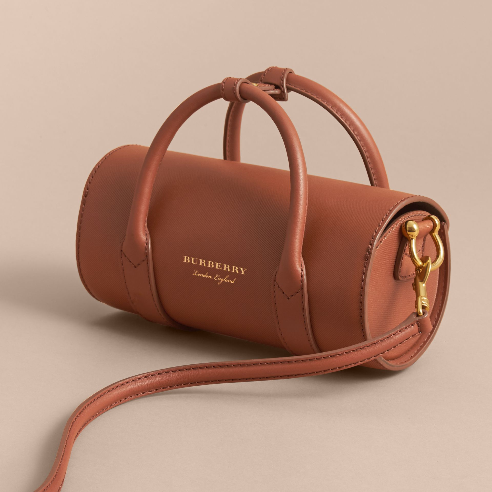 The Small DK88 Barrel Bag in Tan - Women | Burberry United States - gallery image 5