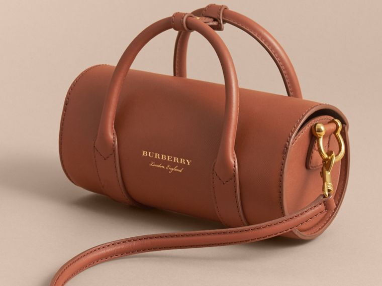 The Small DK88 Barrel Bag in Tan - Women | Burberry United States - cell image 4