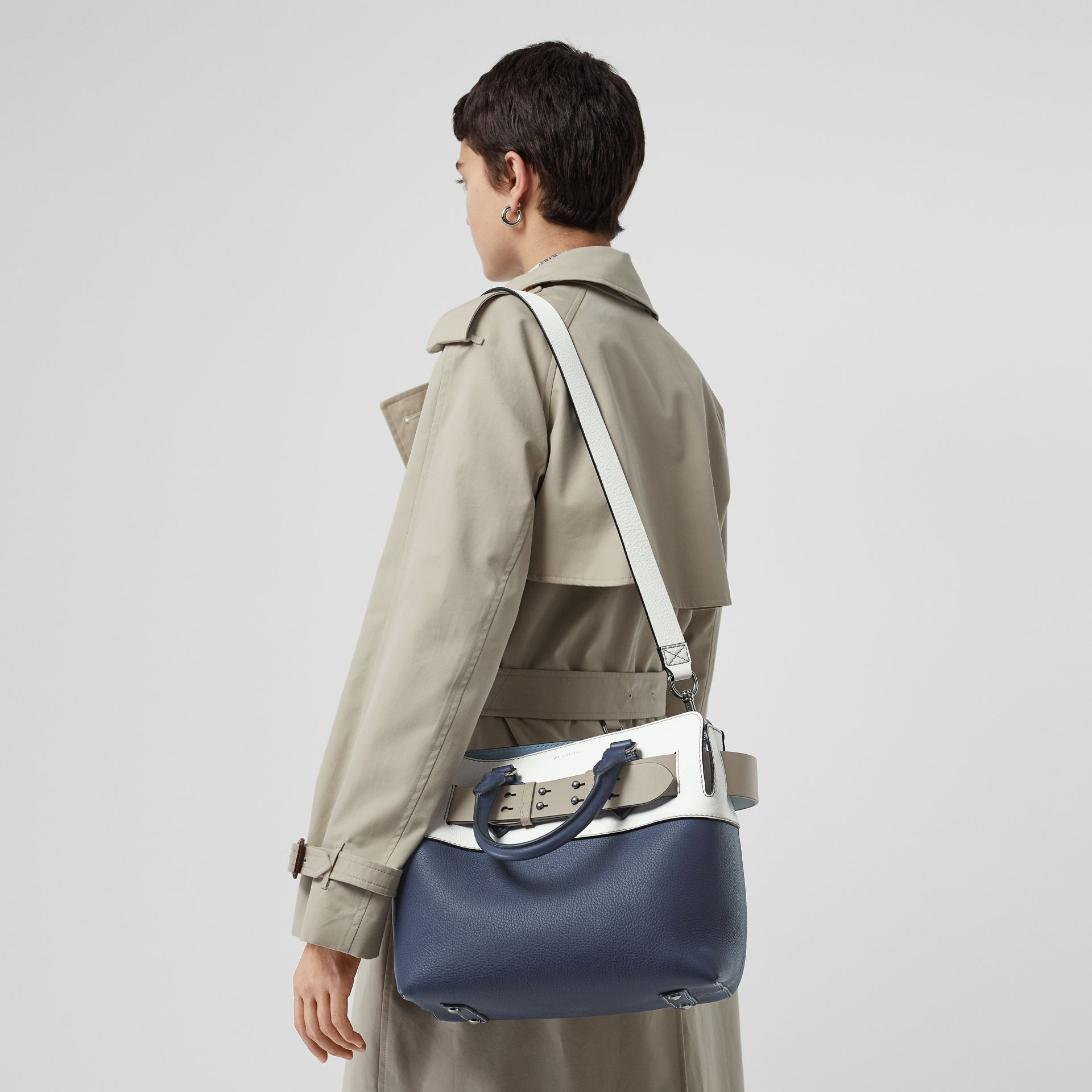 The Small Quadri-tone Leather Belt Bag in Regency Blue/chalk White - Women | Burberry - gallery image 5