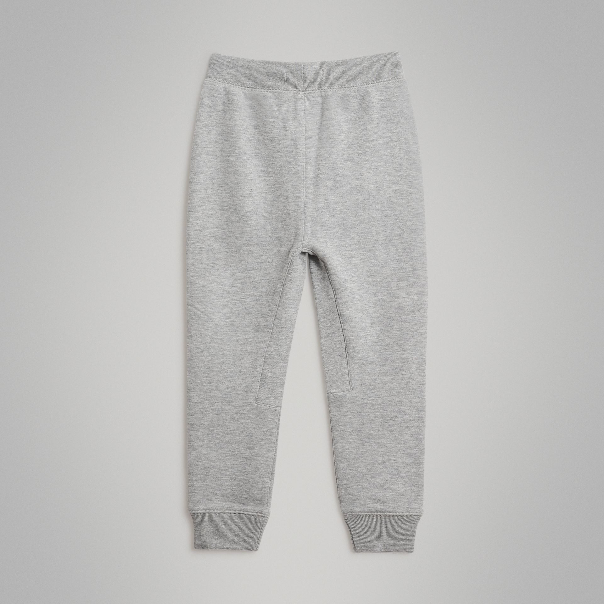 Drawcord Cotton Sweatpants in Grey Melange - Boy | Burberry - gallery image 3