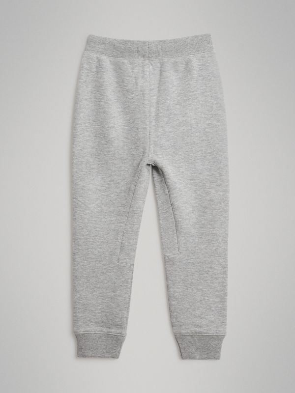 Drawcord Cotton Sweatpants in Grey Melange | Burberry - cell image 3
