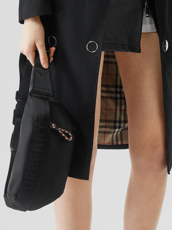 Medium Logo Detail Bum Bag in Black | Burberry Australia - cell image 2