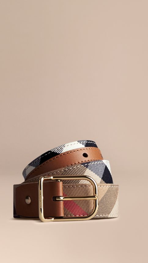 Tan House Check Belt Tan - Image 1