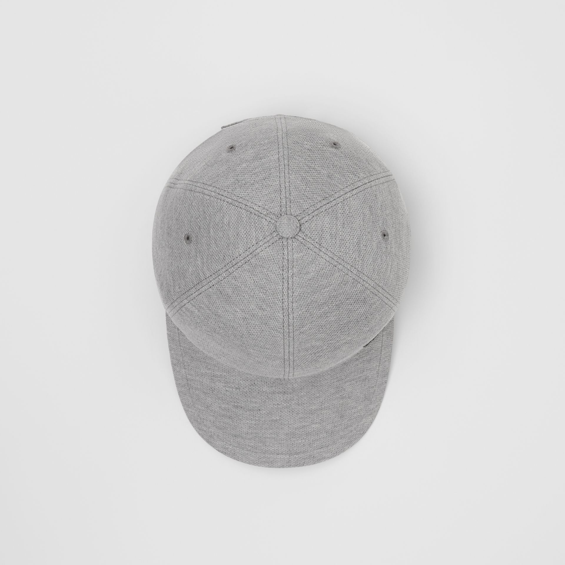 Monogram Motif Baseball Cap in Pale Grey Melange | Burberry - gallery image 0