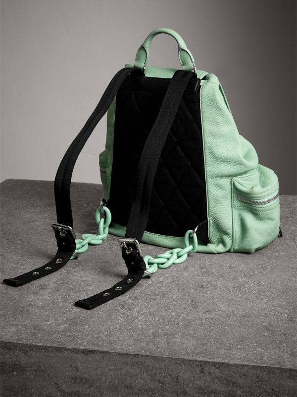 The Medium Rucksack in Deerskin with Resin Chain in Spearmint - Women | Burberry - cell image 3