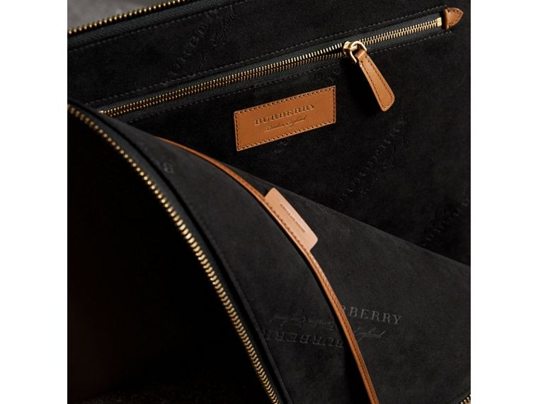 Embossed Leather Document Case in Chestnut Brown - Men | Burberry - cell image 4