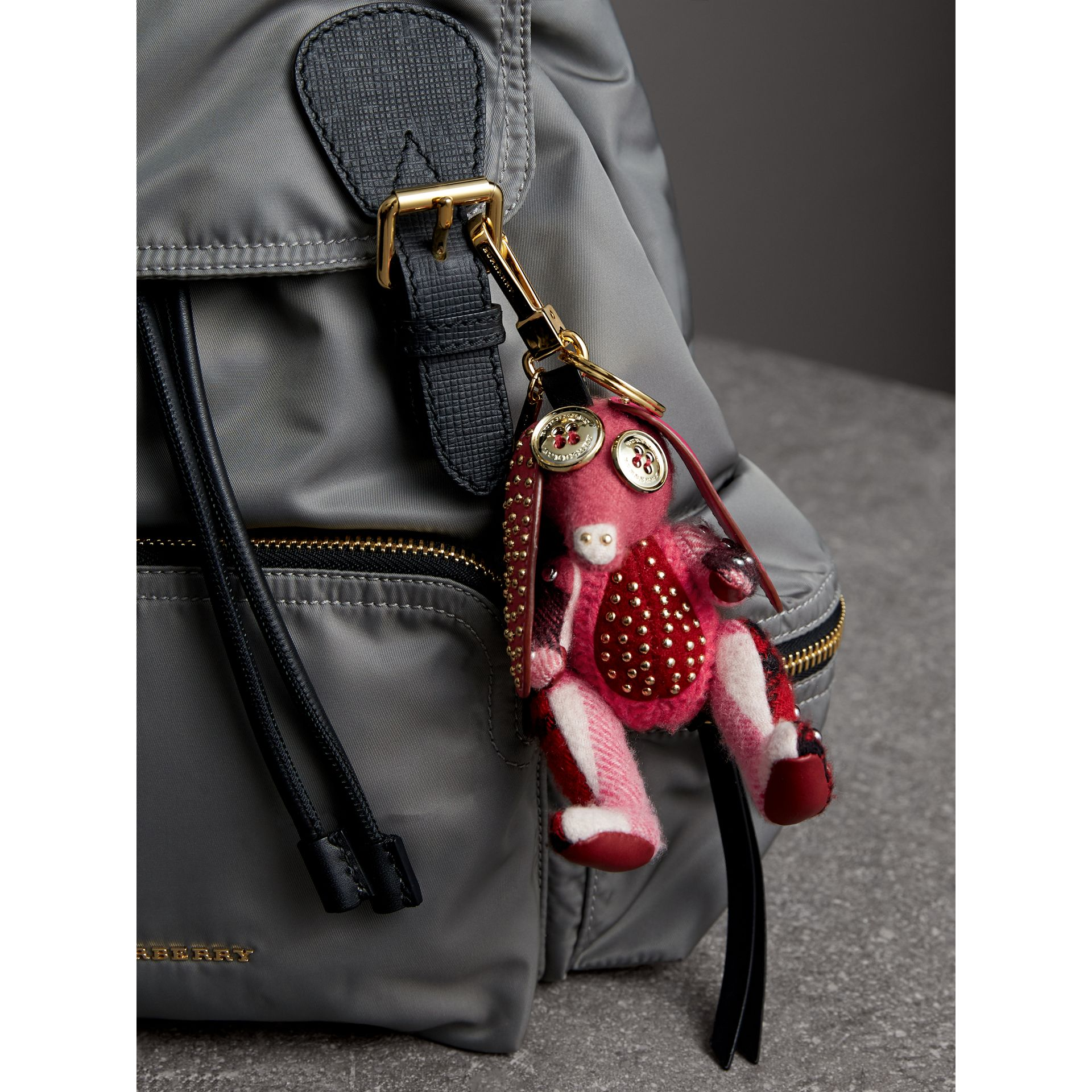 Sandra The Basset Hound Cashmere Charm in Rose Pink | Burberry - gallery image 2