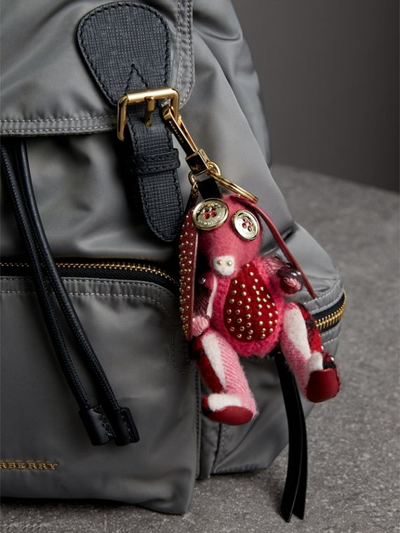 Sandra The Basset Hound Cashmere Charm in Rose Pink - Women | Burberry - cell image 2