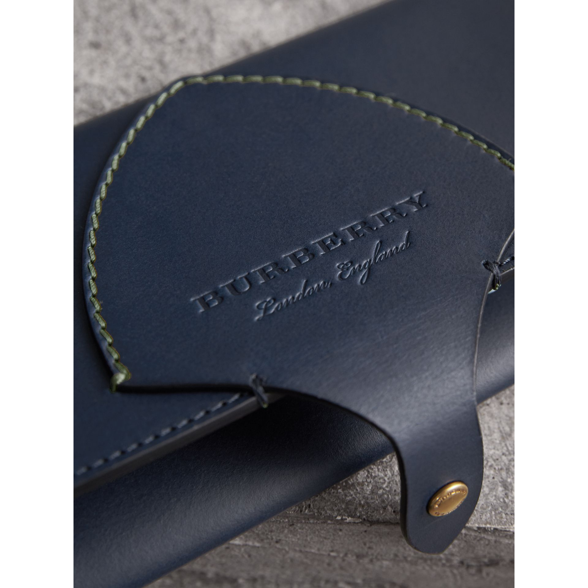 Equestrian Shield Two-tone Leather Continental Wallet in Mid Indigo - Women | Burberry - gallery image 2