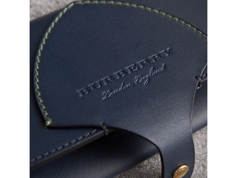 Equestrian Shield Two-tone Leather Continental Wallet in Mid Indigo - Women | Burberry Singapore - cell image 1