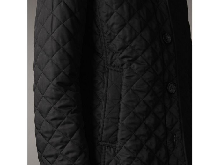 Diamond Quilted Jacket in Black - Women | Burberry - cell image 4