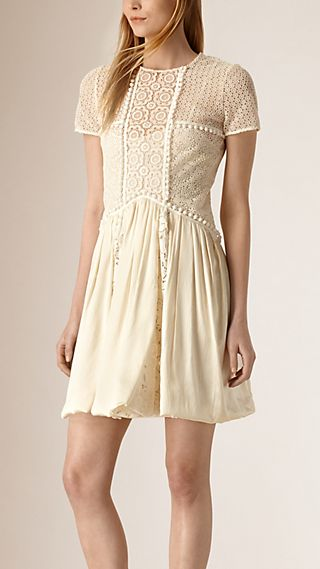 Silk and Italian Lace Dress