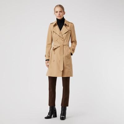 Passform Chelsea Burberry honiggelb Trenchcoat Heritage Damen In fwgxtC