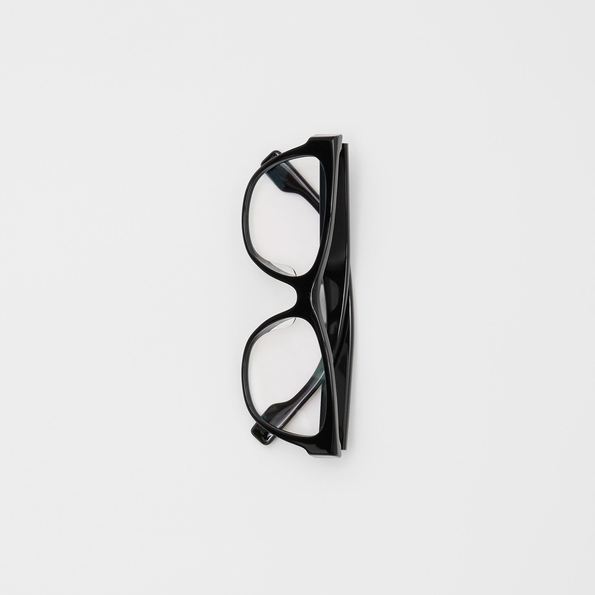 Square Optical Frames in Black - Women | Burberry - gallery image 3