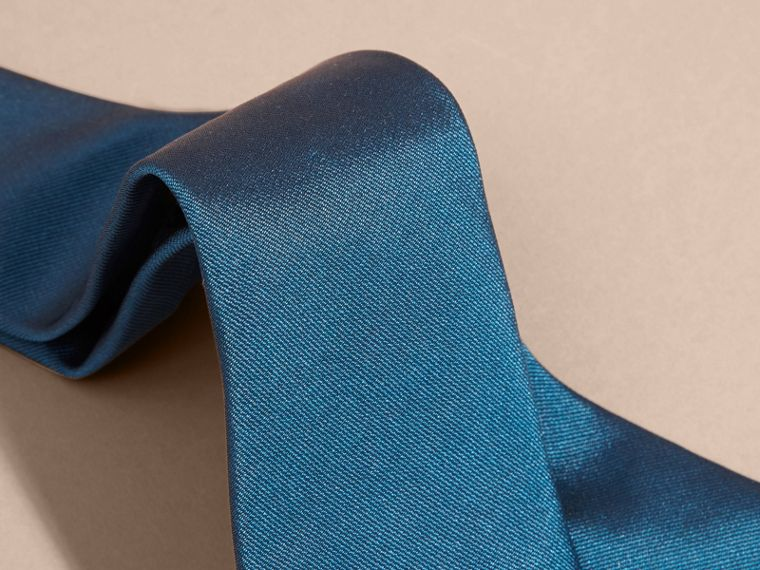 Bright blue Modern Cut Silk Twill Tie Bright Blue - cell image 1