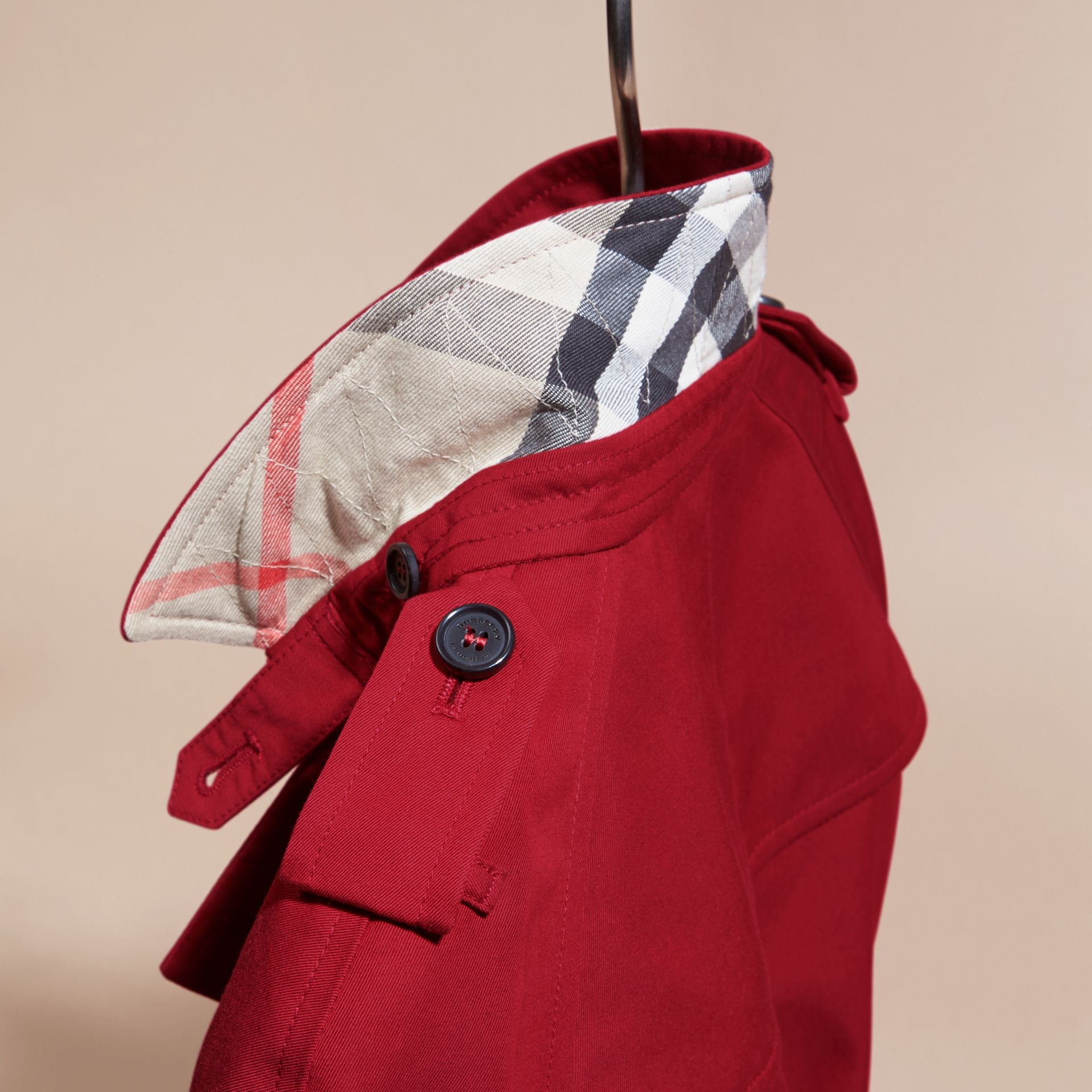 The Wiltshire – Heritage Trench Coat in Parade Red - gallery image 5