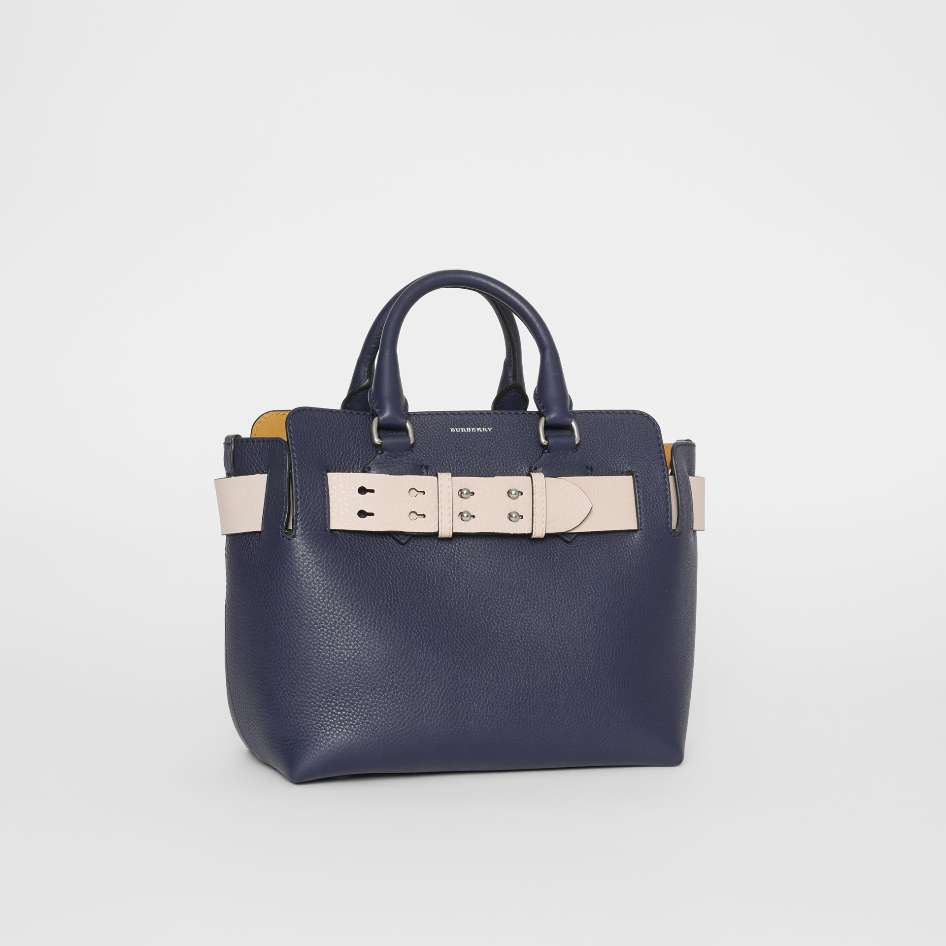 The Small Leather Belt Bag in Regency Blue - Women | Burberry United States - gallery image 6