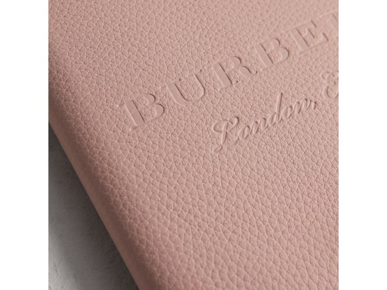 Embossed Leather Ziparound A5 Notebook Case in Pale Ash Rose | Burberry - cell image 1