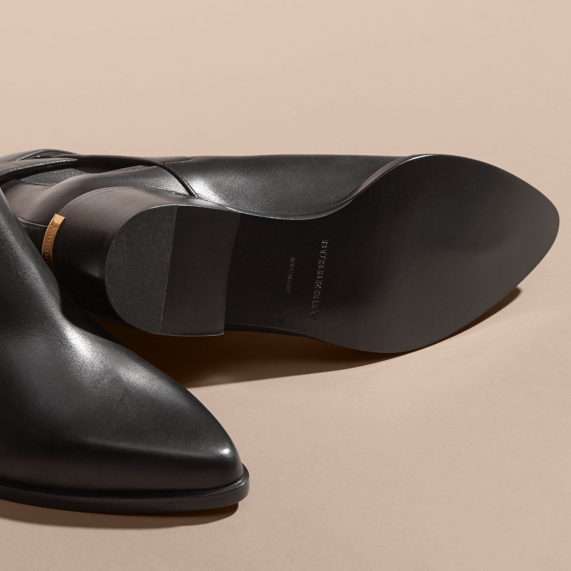 Buckle Detail Leather Chelsea Boots - gallery image 5