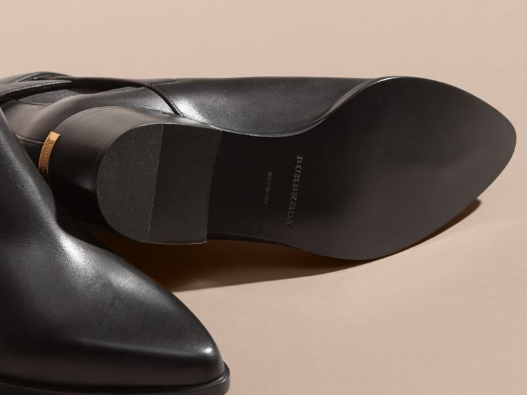 Buckle Detail Leather Chelsea Boots - cell image 4
