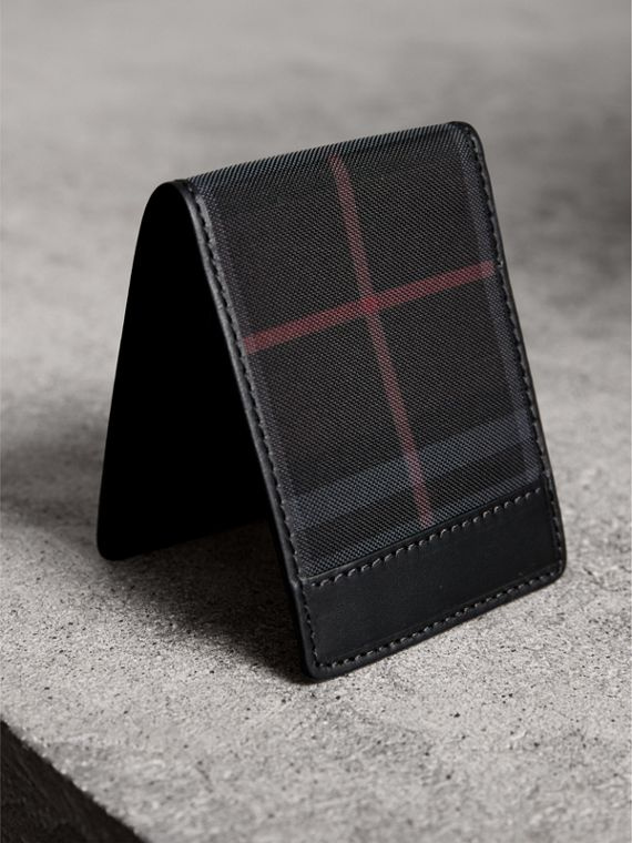 Horseferry Check Wallet in Charcoal/black - Men | Burberry - cell image 2
