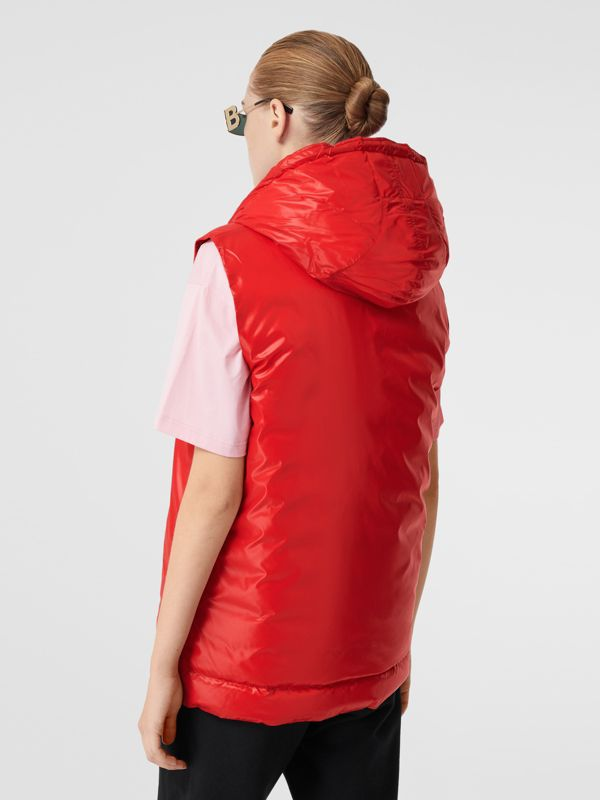 Logo Graphic Puffer Gilet in Bright Red - Women | Burberry - cell image 2
