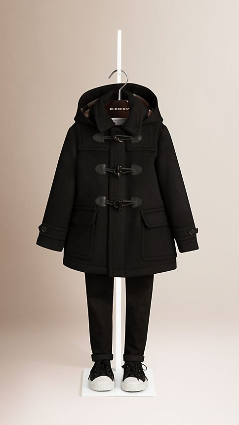 Black Wool Duffle Coat - Image 1