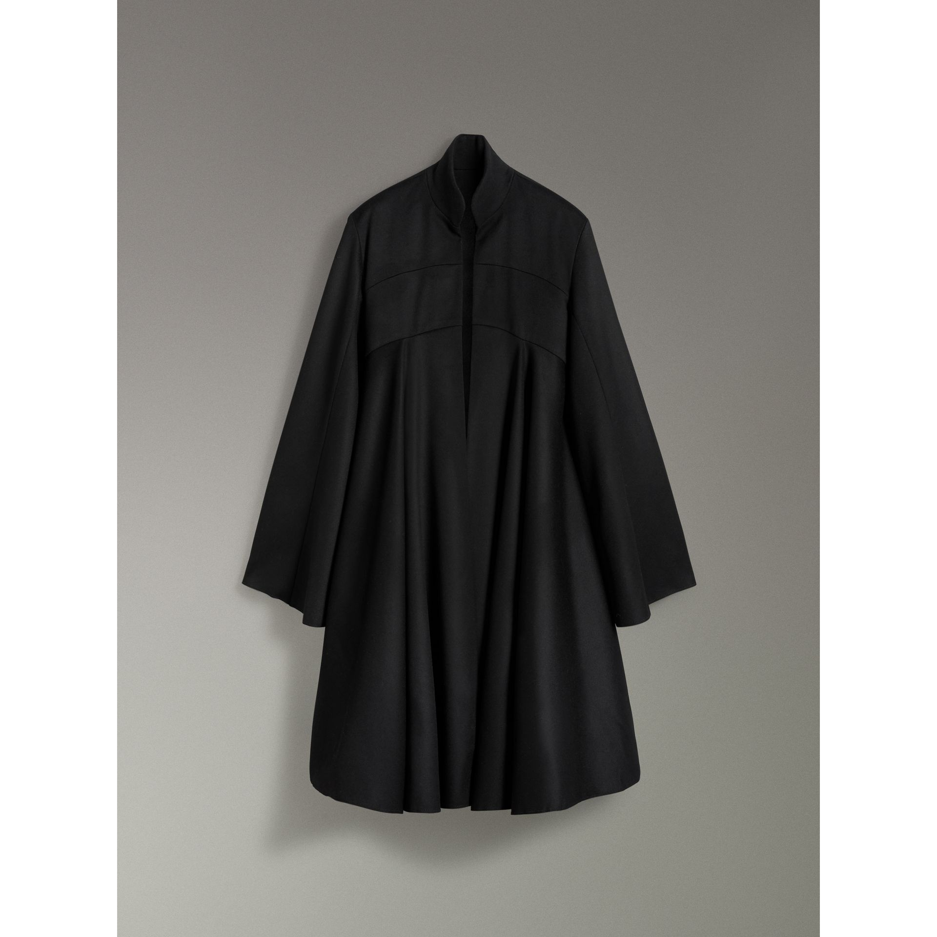 Tailored Doeskin Wool Cape in Black - Women | Burberry - gallery image 3