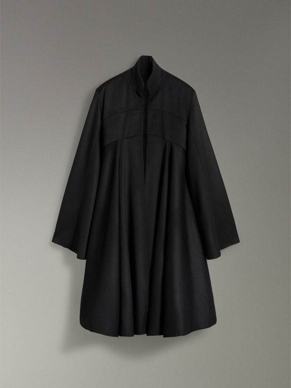 Tailored Doeskin Wool Cape in Black - Women | Burberry - cell image 3