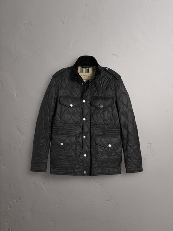 Diamond Quilted Field Jacket in Black - Men | Burberry Canada - cell image 2