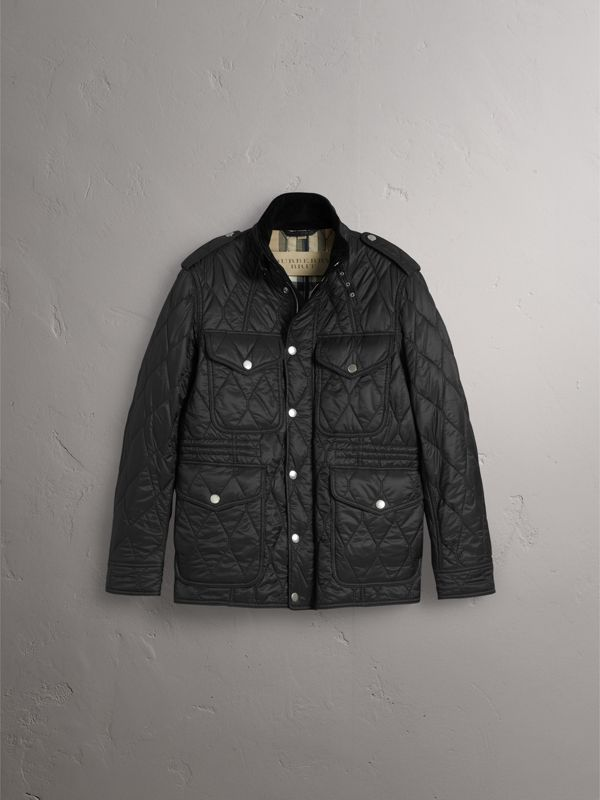 Diamond Quilted Field Jacket in Black - Men | Burberry - cell image 2