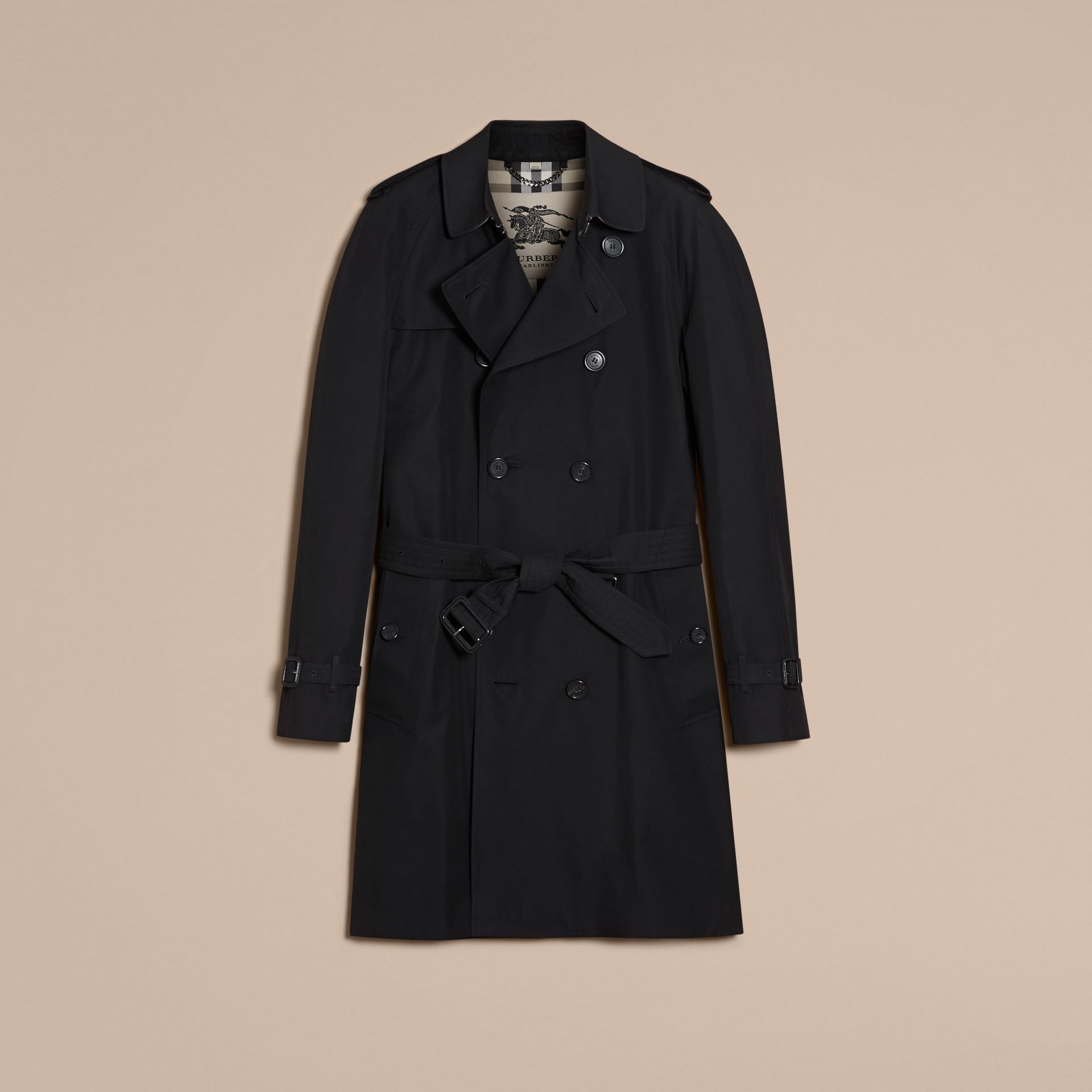 Black The Wiltshire – Long Heritage Trench Coat Black - gallery image 4