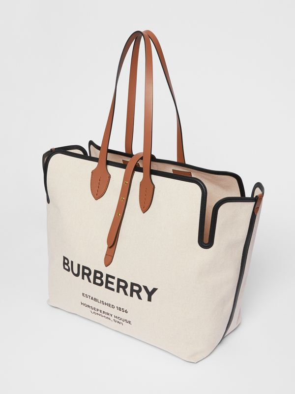 The Large Soft Cotton Canvas Belt Bag in Malt Brown - Women | Burberry - cell image 3