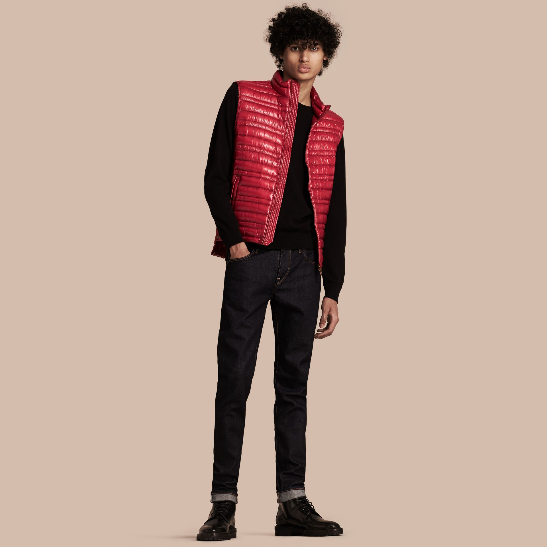 Parade red Lightweight Down-filled Gilet Parade Red - gallery image 1