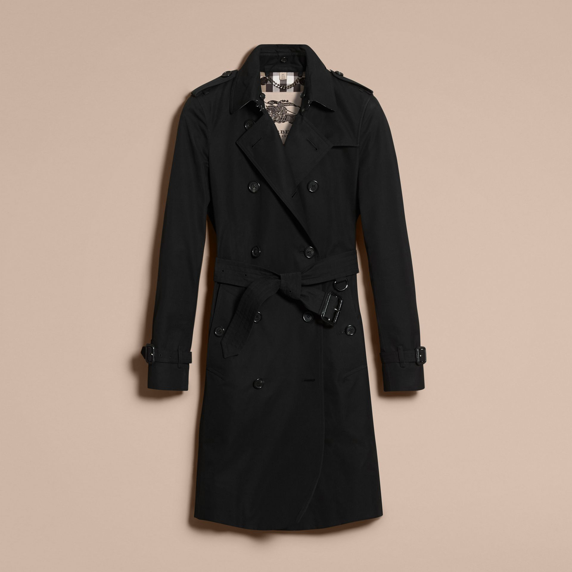 Black The Kensington – Long Heritage Trench Coat Black - gallery image 4