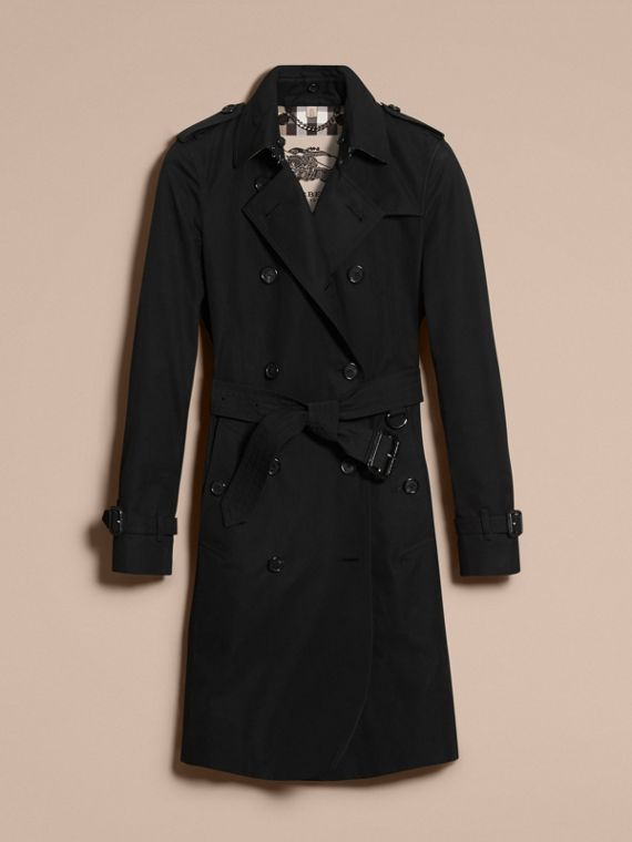 Negro Trench coat Kensington - Trench coat Heritage largo Negro - cell image 3